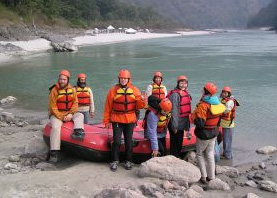 Ready to get wet in the Ganges (Jan 2004)